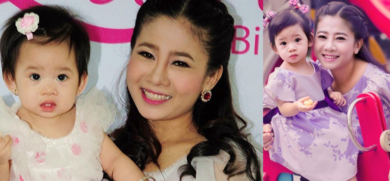 Diễn viên Mai Phương hạnh phúc bên con gái